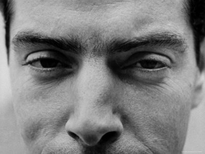 "Close Up of ""Yankee Clipper"" Joe DiMaggio's Eyes and Nose Metalldrucke von Ralph Morse"