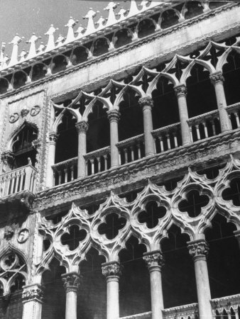Detail of Building Facade in Venice, Italy Photographic Print by Thomas D. Mcavoy