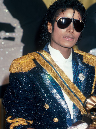 Michael Jackson at Grammy Awards Premium Photographic Print by John Paschal