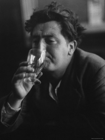 Irish Writer Brendan Behan, Embodiment of Ragged Poet Character in Many of Sean O'Casey's Plays Metal Print by Gjon Mili
