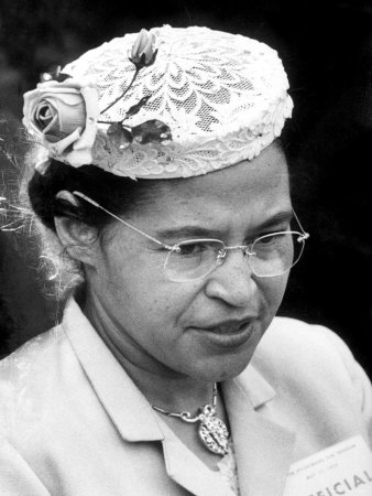 Rosa Parks Woman Who Touched Off Montgomery, Alabama Bus Boycott by African Americans Premium Photographic Print by Paul Schutzer