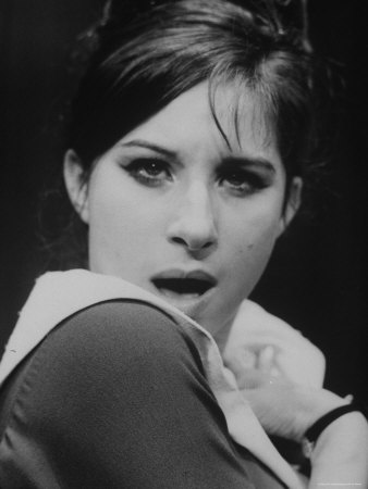 Close Up of Barbra Streisand in Scene from Stage Production