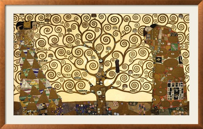 The Tree of Life, Stoclet Frieze, c.1909 Framed Art Print