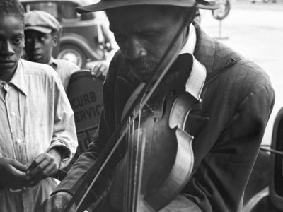 Blind Street Musician, West Memphis, Arkansas, c.1935 Photo by Ben Shahn