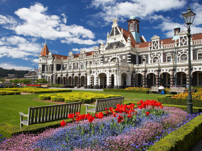 Historic Railway Station, Dunedin, South Island, New Zealand Photographic Print by David Wall