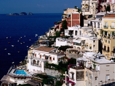 House Terraced into Amalfi Coastline, Positano, Italy Photographic Print by Dallas Stribley