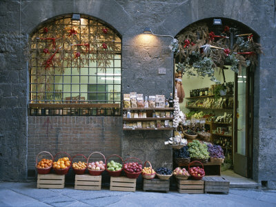 A Fruit and Vegetable Shop in Siena Photographic Print by Taylor S. Kennedy