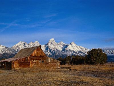 Shanes Barn, Grand Teton National Park, WY Photographic Print by Elizabeth DeLaney