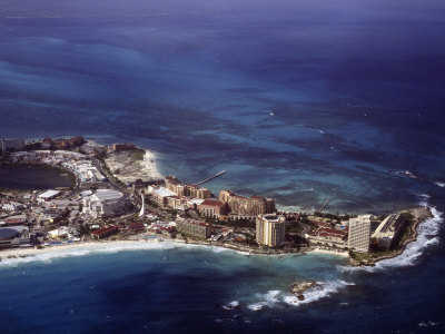 Aerial View of Cancun, Mexico Photographic Print by Bruce Clarke