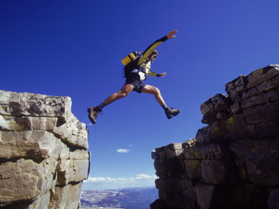 Hiker Jumping, High Uintas, UT Photographic Print by Cheyenne Rouse