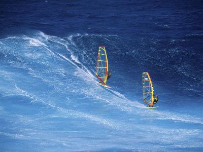Two Windsurfers Photographic Print