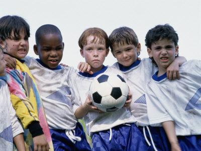 Portrait of a Soccer Team Photographic Print