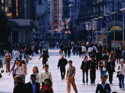 Shopping District of Nanjing Lu, Shanghai, China Photographic Print by Phil Weymouth