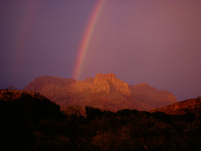 Rainbow over Zion National Park Photographic Print by Sam Abell