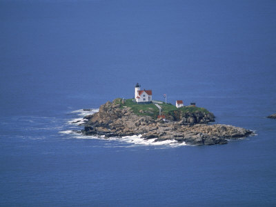Aerial View of Nubble Light, ME Photographic Print by Dan Gair
