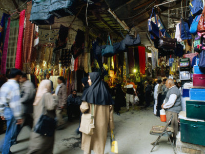 Shoppers in Central Bazaar Area Shiraz, Fars, Iran Photographic Print by Phil Weymouth