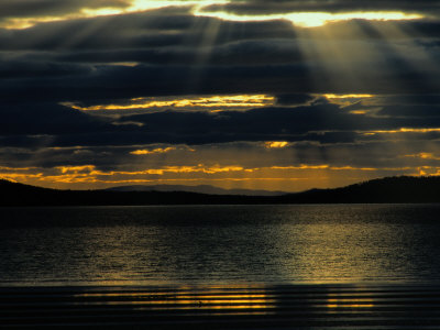The Sun Sets over the Water in Tasmania Photographic Print by Sam Abell
