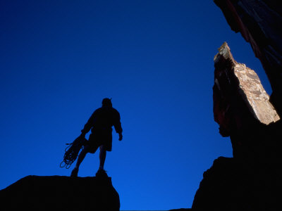 Silhouette of Rock Climber, UT Photographic Print by Greg Epperson