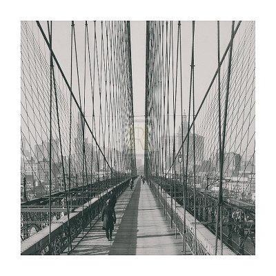 The Brooklyn Bridge, Sunday PM Prints by  The Chelsea Collection