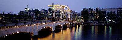 Magere Brug Bridge, Amsterdam, Holland Photographic Print by Walter Bibikow