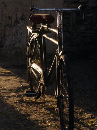 Hero Bicycle, Udaipur, Rajasthan, India Photographic Print by Dan Gair