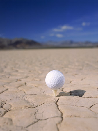 Golf Ball and Tee Photographic Print by Thomas Winz