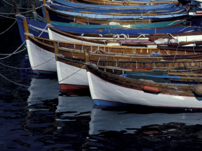 Boats in Harbor, Cinque Terre, Italy Photographic Print by Greg Gawlowski