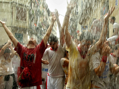 Chupinazo the Official Opening of the 2005 San Fermin Fiestas Photographic Print