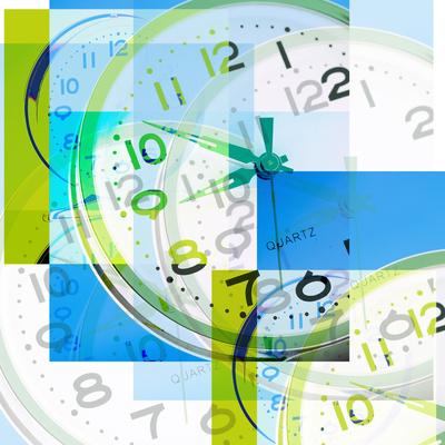 Montage of Clocks Photographic Print