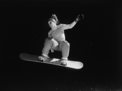Airborne Snow Boarder Photographic Print by Jack Affleck