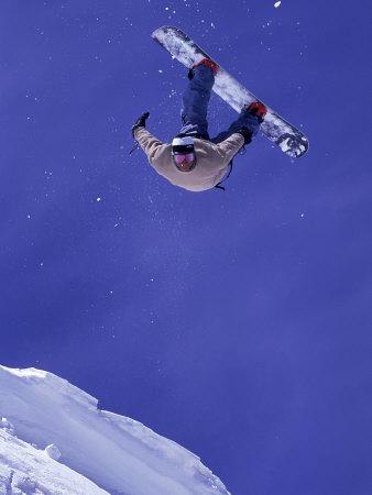 Airborne Snow Boarder Photographic Print by Kurt Olesek