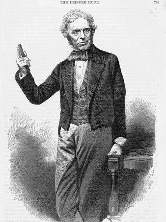 Michael Faraday Scientist Shown Giving a Demonstration Photographic Print