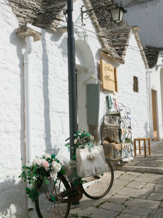 Souvenir Shop Bicycle, UNESCO World Heritage Site, Terra dei Trulli, Alberobello, Puglia, Italy Photographic Print