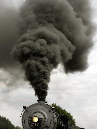 Smoke Billows from the Smoke Stack of Engine No. 734 Photographic Print by Chris Gardner