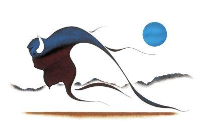 Buffalo Spirit Giclee Print by Isaac Bignell