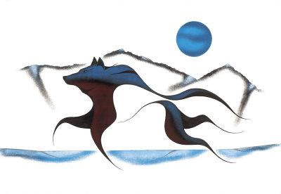 Wolf Spirit II Giclee Print by Isaac Bignell
