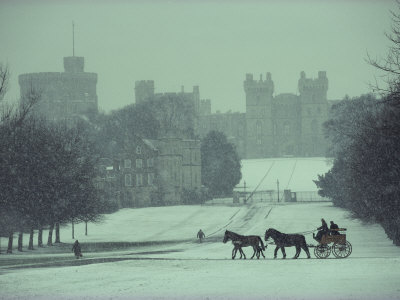 Prince Philip of England Drives a Coach Toward Toward the Long Walk, Windsor Castle, England Photographic Print by James L. Stanfield