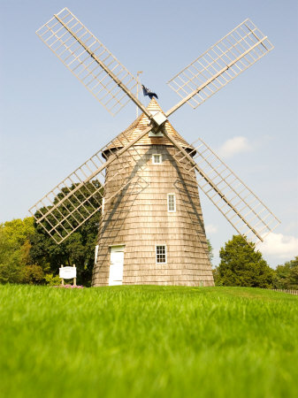 Veteran's Memorial and Wind Mill, East Hampton, New York, USA Photographic Print by Michele Westmorland