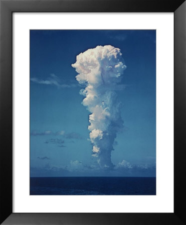 Atomic Bomb Mushroom Cloud After Test at Bikini Island Framed Art Print