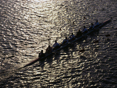 Crew Boat at Head of Charles Regatta Photographic Print