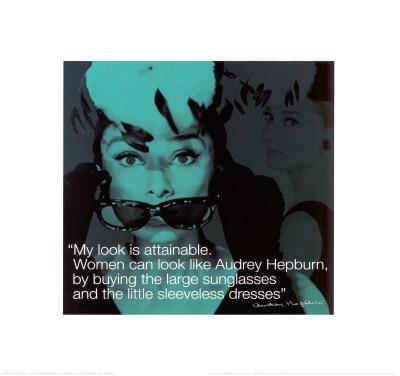 audrey hepburn quotes. Audrey Hepburn Art Print