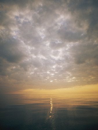 Scenic View of Sky, Sea and Horizon Photographic Print by Bill Curtsinger