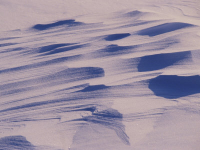 Landscape View of Wind-Streaked Snow Photographic Print by Kenneth Garrett