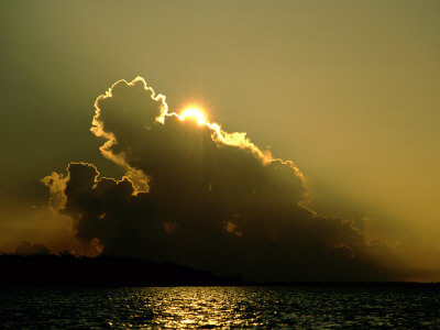 Clouds Hide the Sun over the Delta Photographic Print by James P. Blair