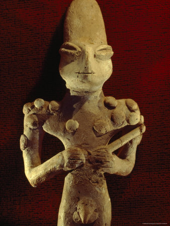A Ubaid Terra-Cotta Fiqure Dating from 3500 B.C. Photographic Print by Lynn Abercrombie