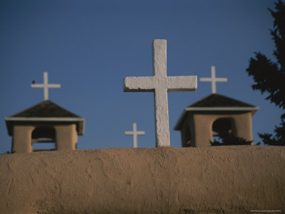 Crosses Decorate the 18th-Century San Francisco De Asis Mission Photographic Print by Stacy Gold
