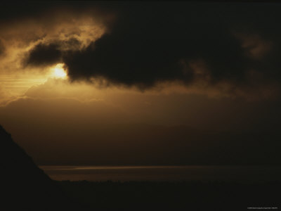Early Morning Sun and Clouds over the Mouth of the Columbia River Photographic Print by Sam Abell