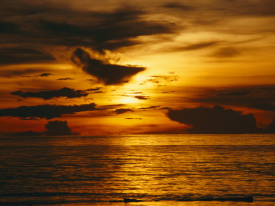 Sunset over Pacific Ocean, Yap Islands, Caroline Islands, Micronesia Photographic Print by Joe Stancampiano