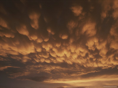 Mamatus Clouds Before a Storm at Sunset Photographic Print by Brian Gordon Green