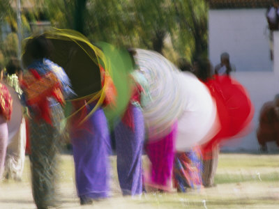 Brightly Colored Umbrellas are Twirled at a Festival in Thimphu Photographic Print by Michael Melford